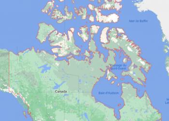 Carte Canada pour vacances